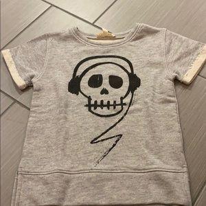 Other - Appaman boys short sleeve sweatshirt size 6 skull